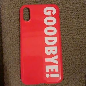 GOODBYE IPhone XR phone case (Kendall Jenner)